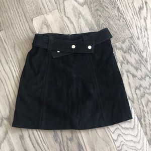 Suede skirt with belt from Zara